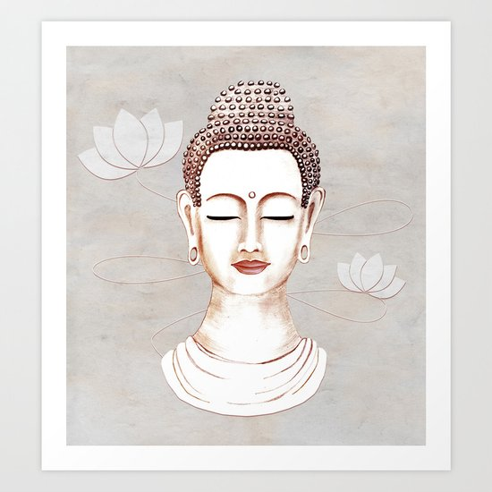Buddha Concentrate Art Print