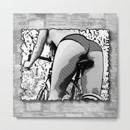 Naked Ride Metal Print
