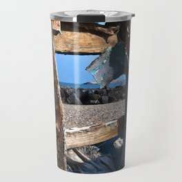 OLD WRECK of GIARDINI NAXOS at SICILY - SICILIA BEDDA Travel Mug