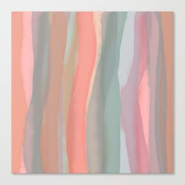 Peachy Watercolor Canvas Print