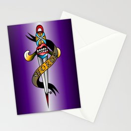 Words as daggers. Stationery Cards