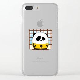 Panda Plopz (G.O.D) Clear iPhone Case
