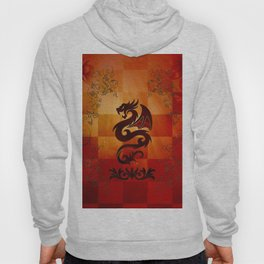 Awesome dragon with floral elements Hoody