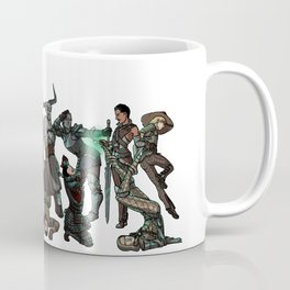 Strong Female Pose - Dragon Age group part 2 Coffee Mug