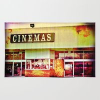 cinema Area & Throw Rugs featuring Abandoned Cinema by Elina Cate