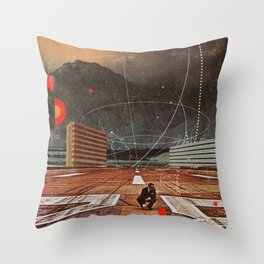 Tracing your Steps Throw Pillow