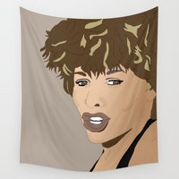 tina Wall Tapestries featuring Simply the Best Tina T by Mike Thomas Portraiture