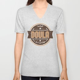 Instant Doula Just Add Coffee Shirt Funny Gift Ideas Unisex V-Neck