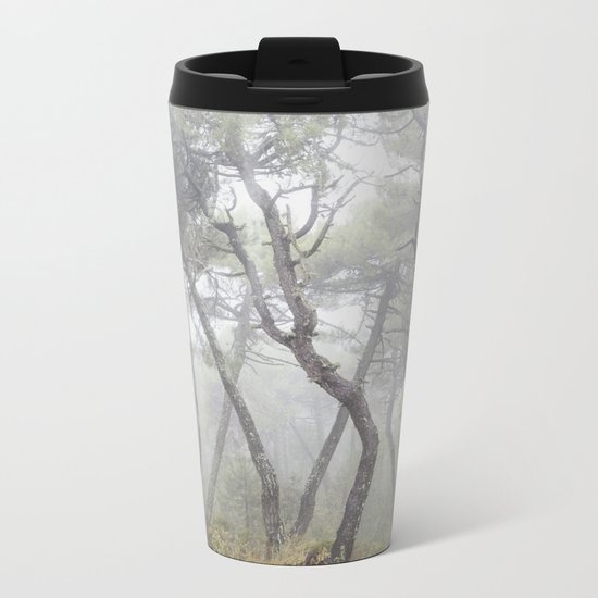 """Forest dance"". Into the foggy woods... Metal Travel Mug"