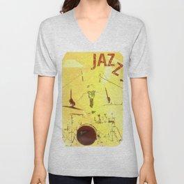 Jazz Poster Unisex V-Neck