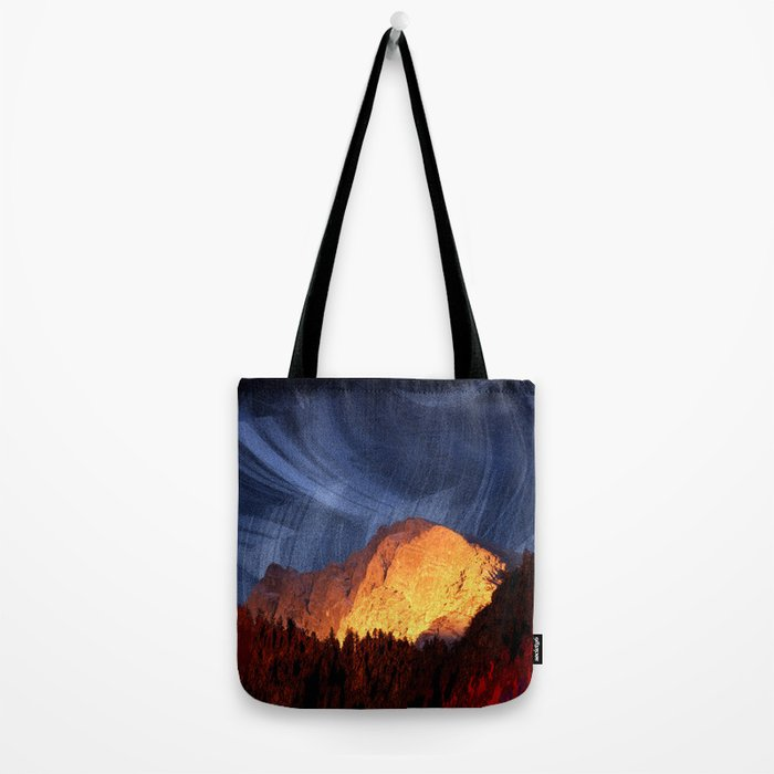 the rock at sunset Tote Bag