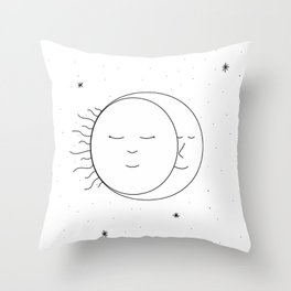 The Moon and Sun are One Throw Pillow