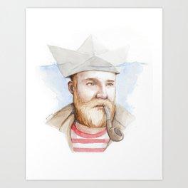 Sailor - Paper Boat Art Print