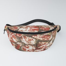 Red Paint Abstract Drip Stones AKA Pollock Fanny Pack