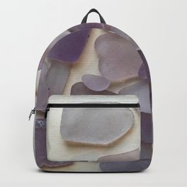 Genuine Purple Sea Glass Collection Backpack