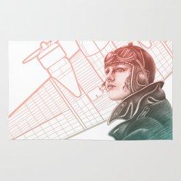 Amelia Earhart Courageous Adventurer Rug