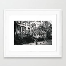 New York City - West Village Street and Bicycles Framed Art Print