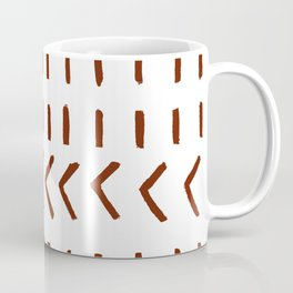 Lines and Arrows in Rust on White  Coffee Mug