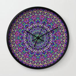 Happy Bohemian Jungle Mandala Wall Clock