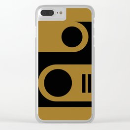 Black Gold Abstract Clear iPhone Case