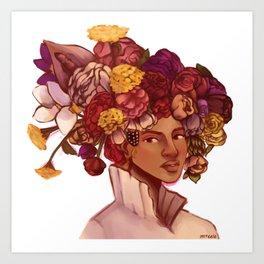 Bey Floral Art Print