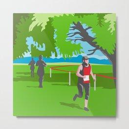 Marathon Runner Running WPA Metal Print