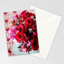 Hearts And Flowers Stationery Cards