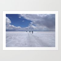 Desert of salt Argentina Art Print
