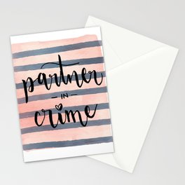 Partner in Crime Stationery Cards
