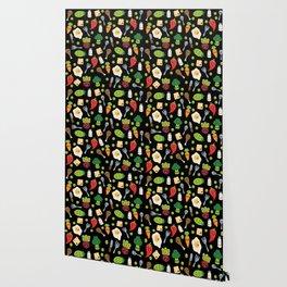 Cute Kawaii Food Pattern Wallpaper