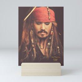 Jack Sparrow Digital Painting Mini Art Print