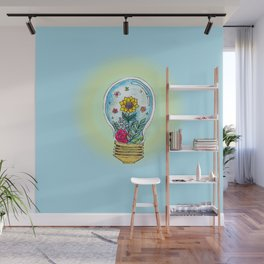 Watercolor Magic Plant Bulb Wall Mural