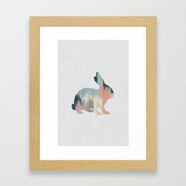 Pastel Rabbit Framed Art Print