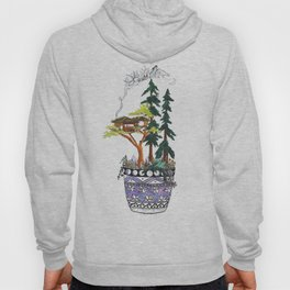Forest Tree House - Woodland Potted Plant Hoody