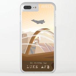 F-35 Luke Air Force Base 62d FIGHTER SQDN Clear iPhone Case