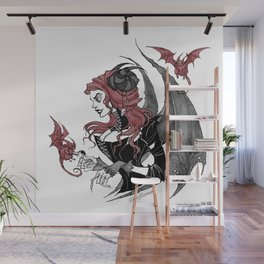 Inktober Demon Wall Mural