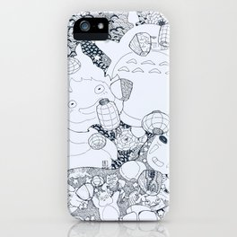 Ghibli-Inspired Collage iPhone Case