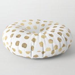 Luxurious faux gold leaf polka dots brushstrokes Floor Pillow