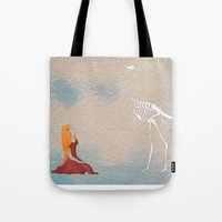 ostrich Tote Bags featuring Ostrich by Leah Gonzales