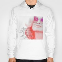 jessica lange Hoodies featuring Jessica Lange Quote by NameGame