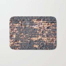 black orange urban worn damaged brick wall photo texture Bath Mat