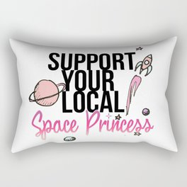 Space Princess Rectangular Pillow