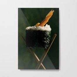 Prawn Tempura Sushi Roll Metal Print