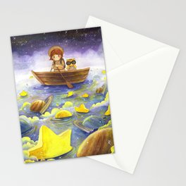 Floating stars Stationery Cards