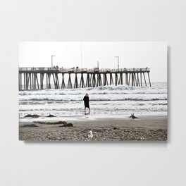 Girl By The Sea Metal Print