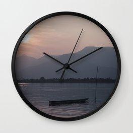 Sunset at Mekong Wall Clock