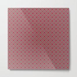 Batik Kawung Classic Pattern - Valentine Edition Metal Print
