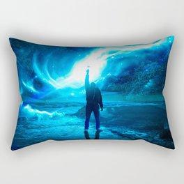 Neon Glow Rectangular Pillow