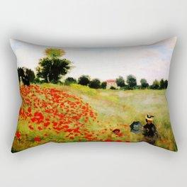 Poppies - Claude Monet 1873 Rectangular Pillow