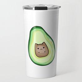 AvoCato Avocado Cat Print Travel Mug